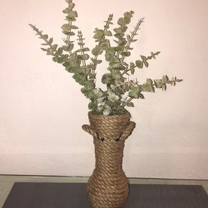 Farmhouse Rustic Vase with Handles